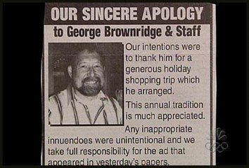 Oops! Sorry, George Brownridge!