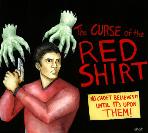 """Curse of the Red Shirt"" by Damatris (deviant art)"